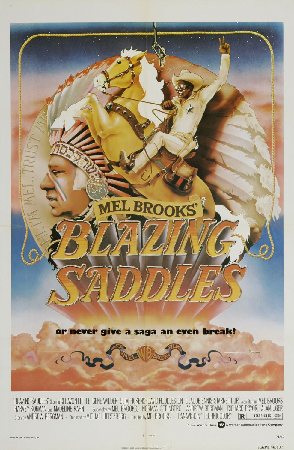 Blazing Saddles poster version 1