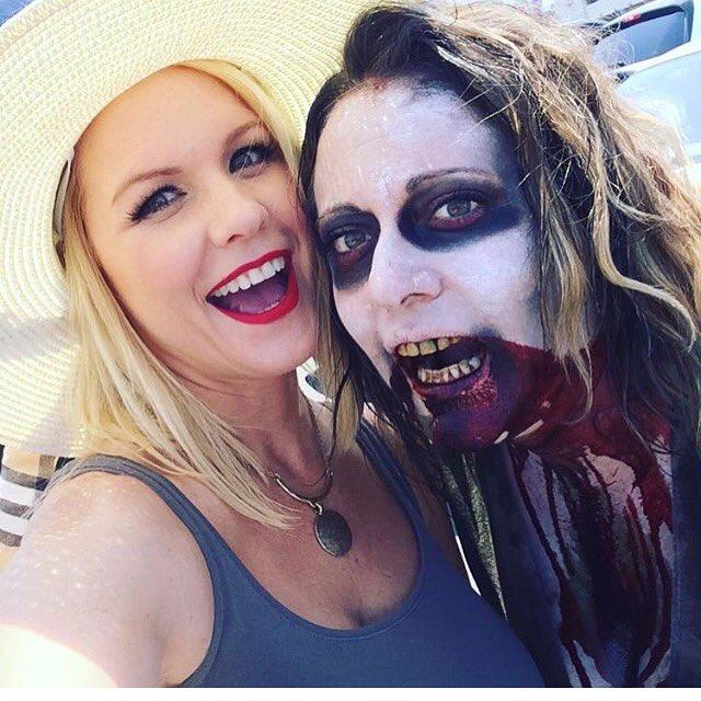 Valentine Dayz zombie makeup