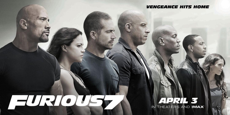 Furious 7 movie poster
