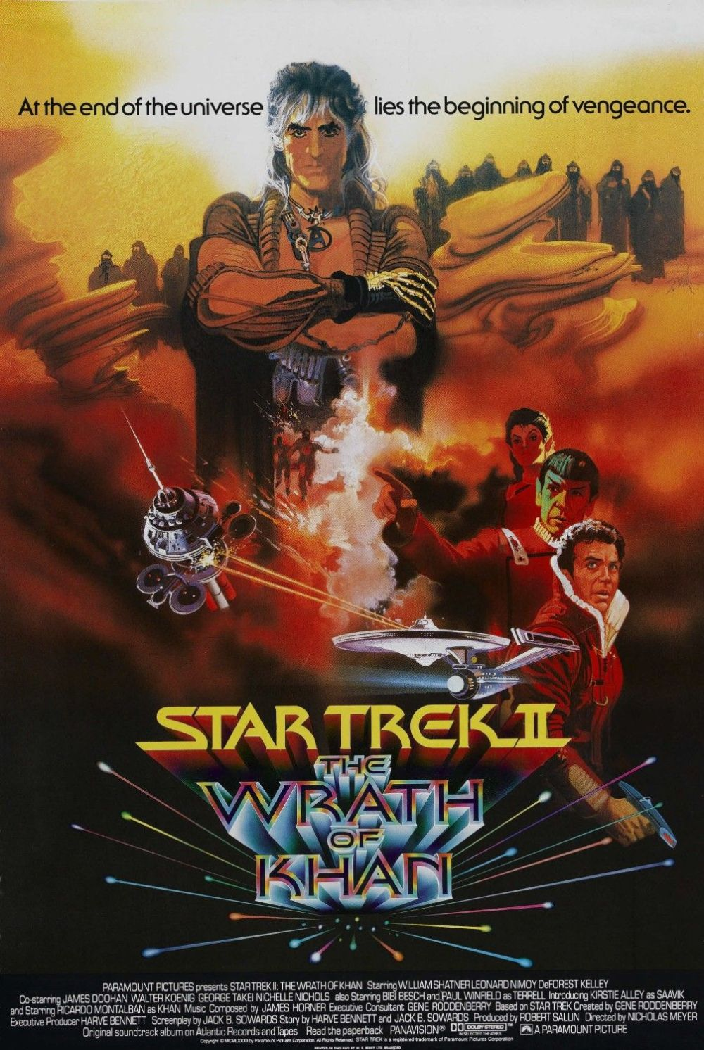 Star Trek II movie poster