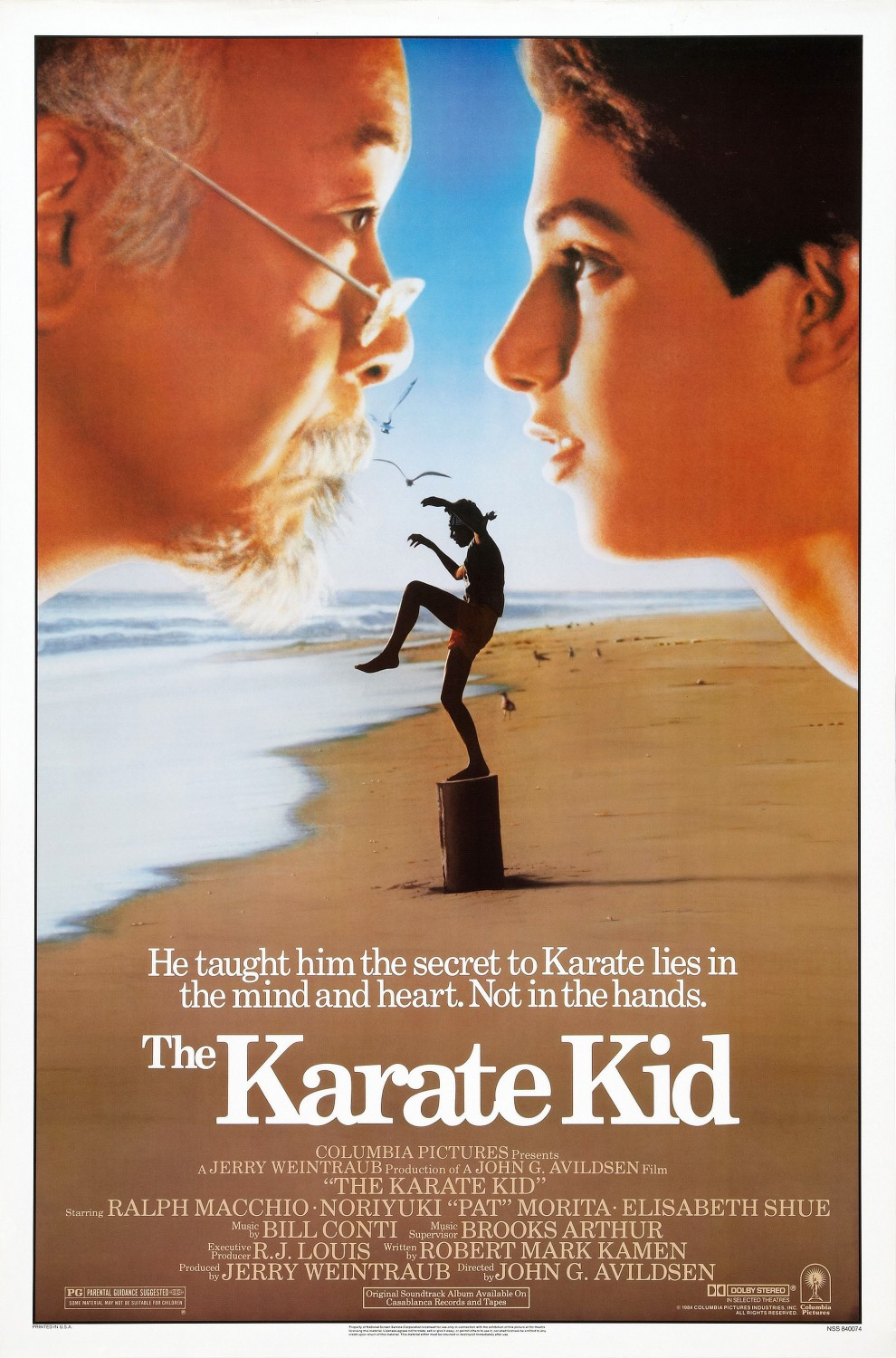 The Karate Kid 1984 poster