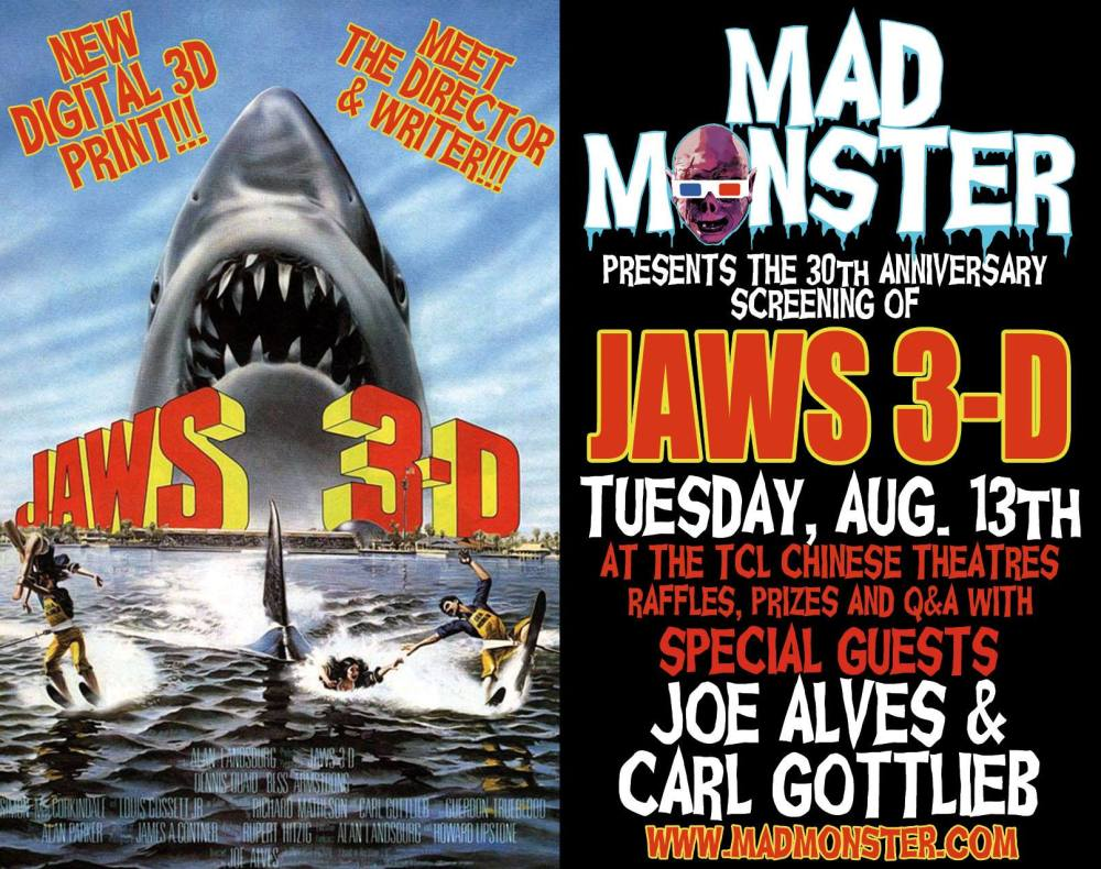 Jaws 3D Mad Monster poster