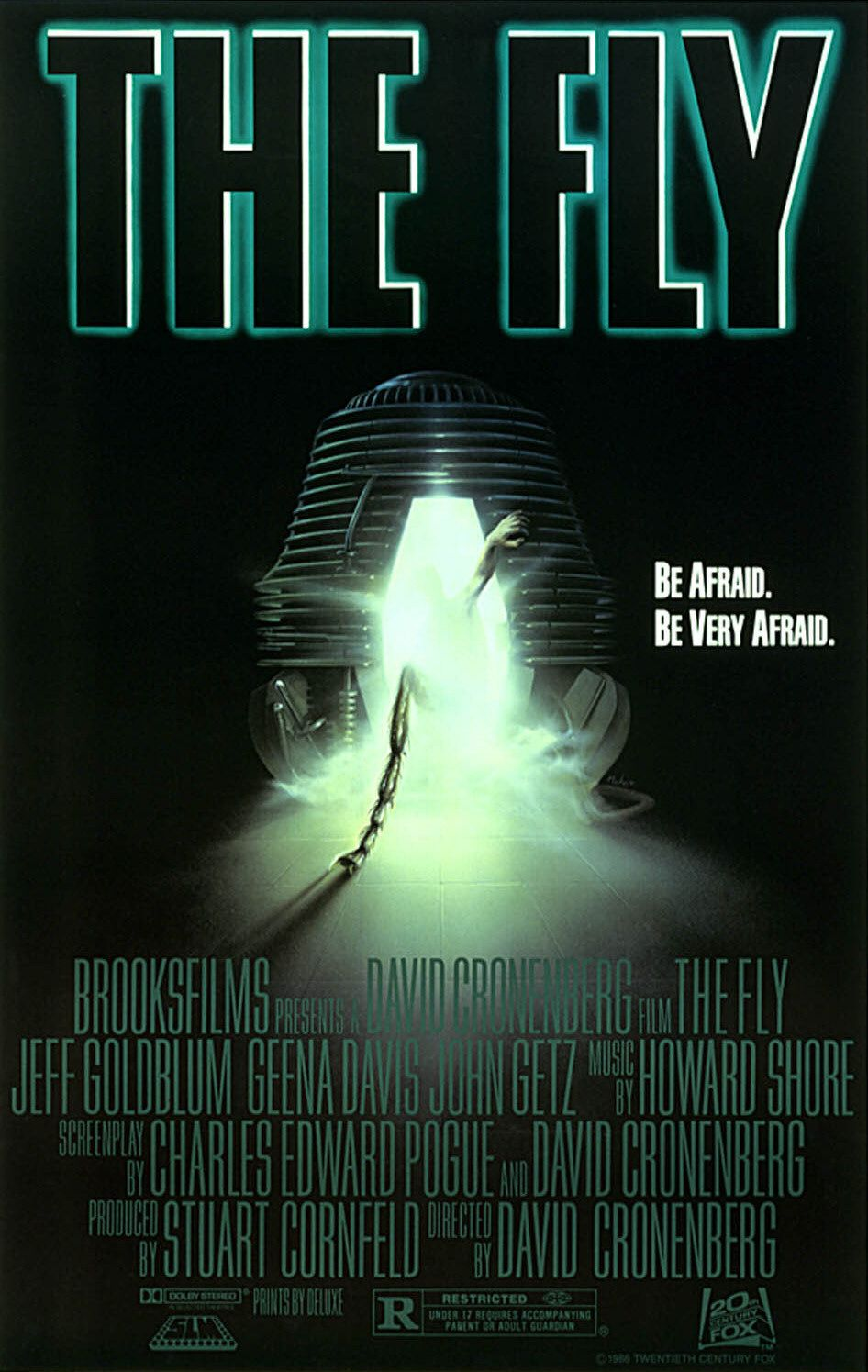 The Fly 1986 movie poster