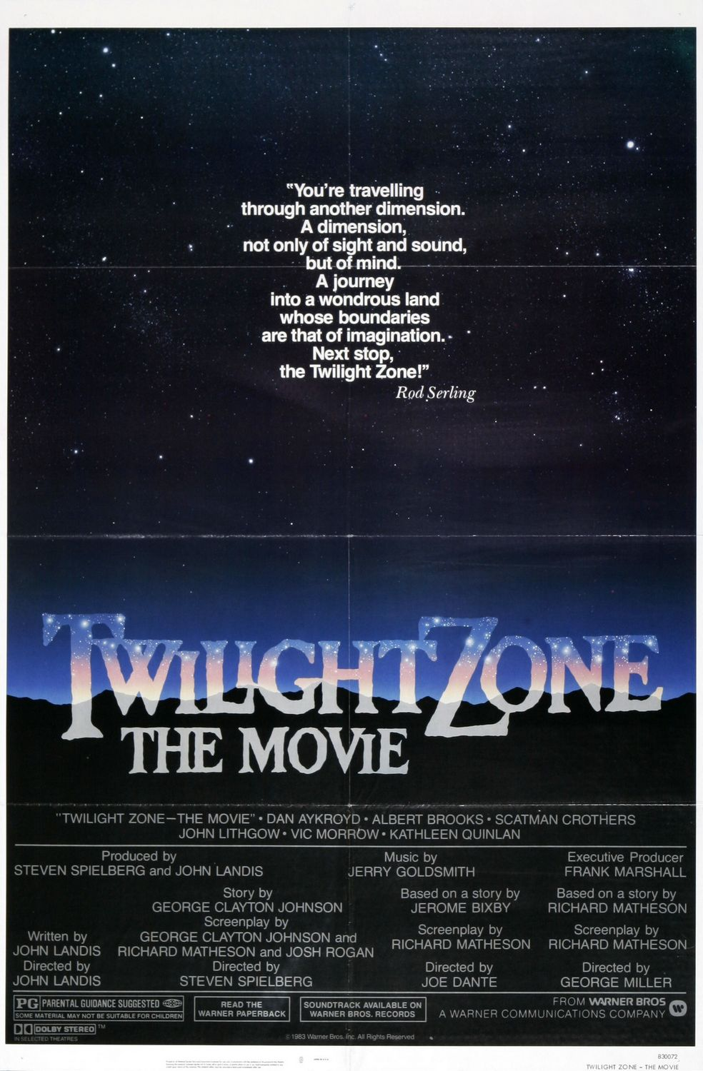 Twilight Zone The Movie poster