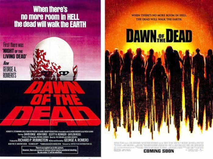 Dawn of the Dead original and remake posters