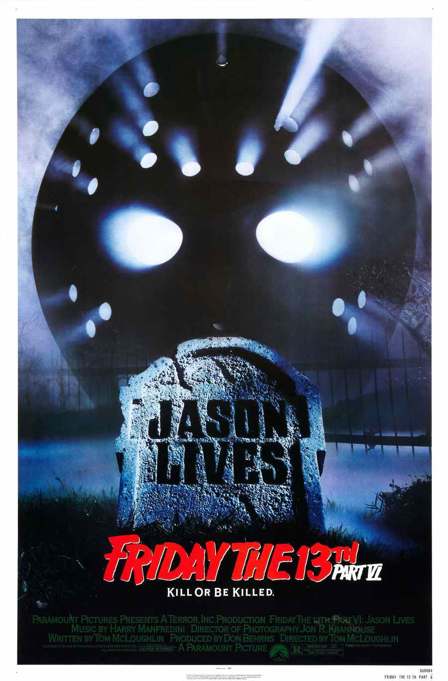 Friday the 13th Part VI Jason Lives poster
