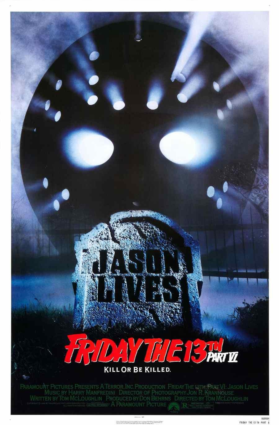 Friday the 13th Part VI Jason Lives poster