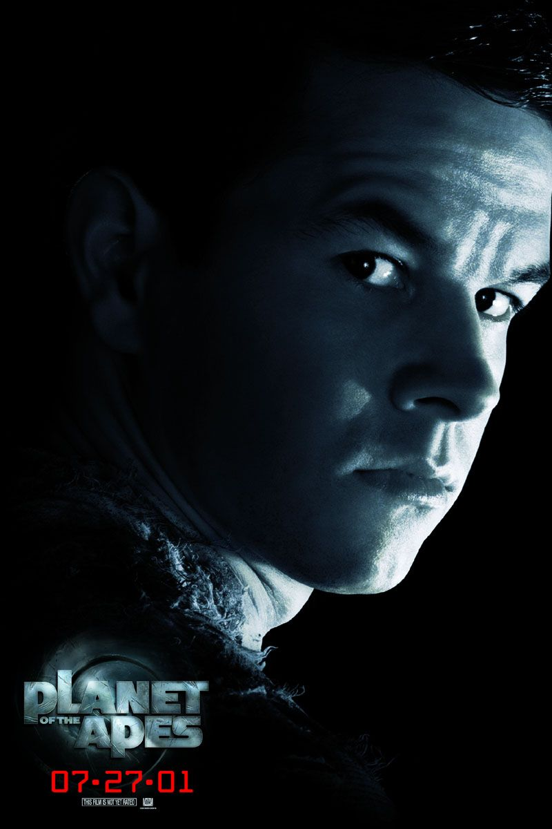 Planet of the Apes Mark Wahlberg poster