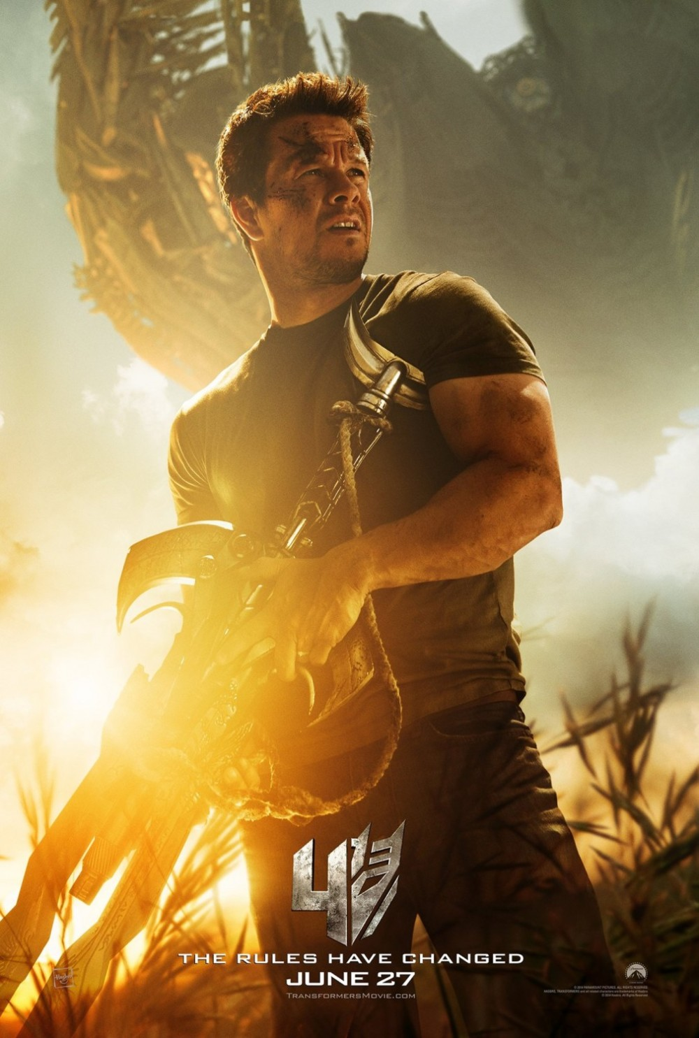 Transformers Mark Wahlberg Extinction poster