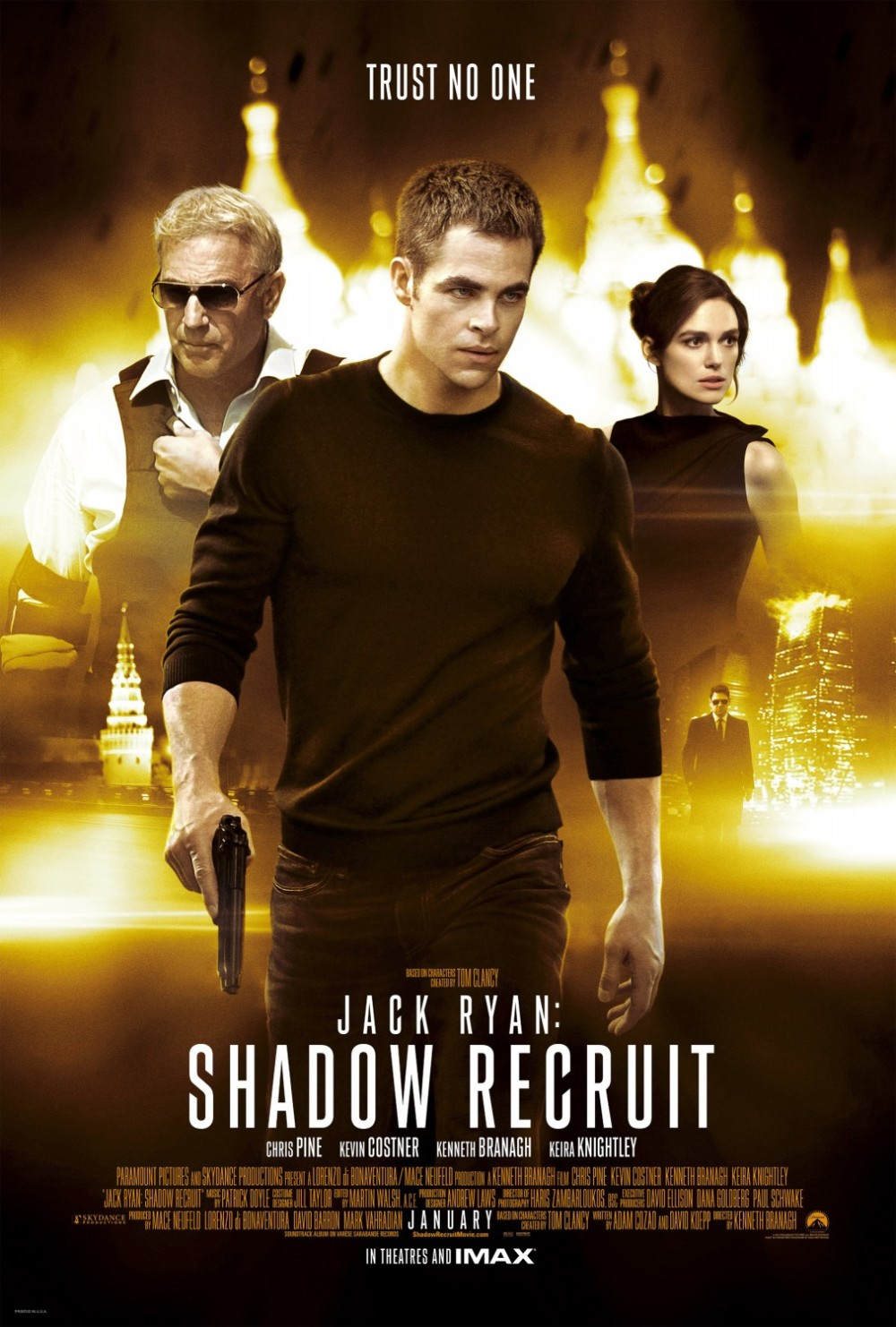 Jack Ryan Shadow Recruit movie poster