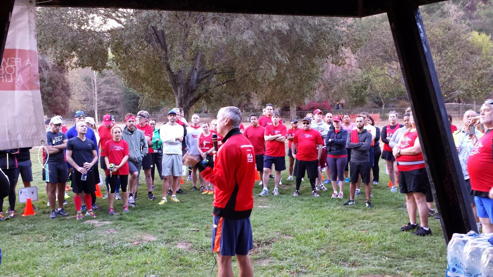 2015 LA Marathon CEO addressing the troops