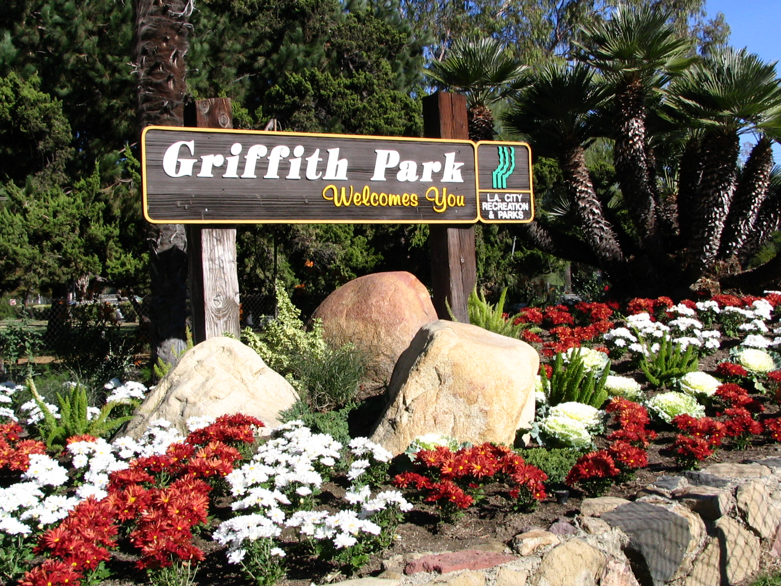 Griffith Park welcome sign