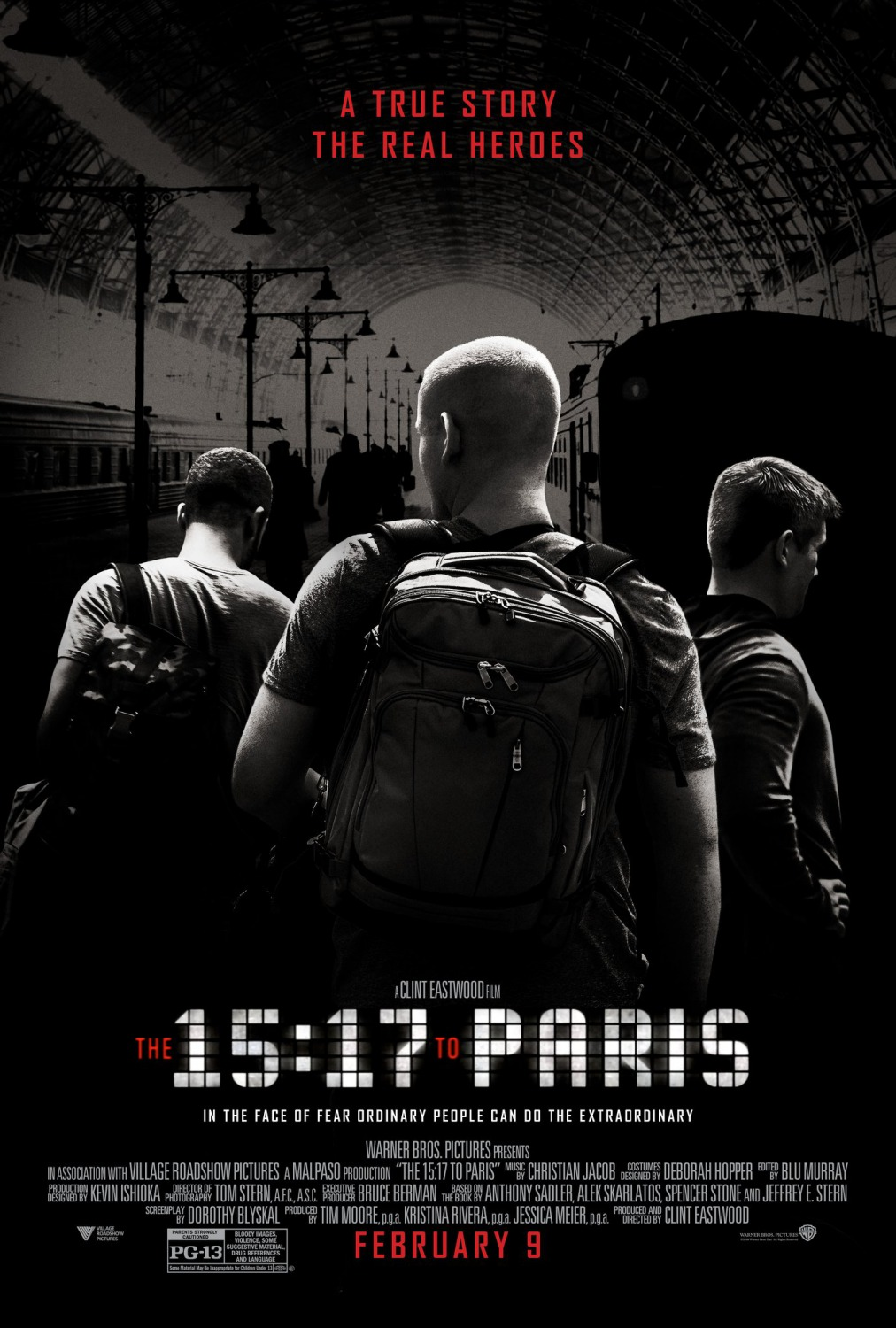 The 15 17 To Paris movie poster