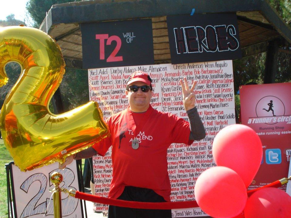 Ben Kenber after 23 miles 2012
