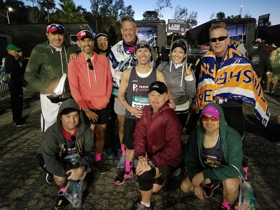 LA Marathon 2018 Pablove team photo