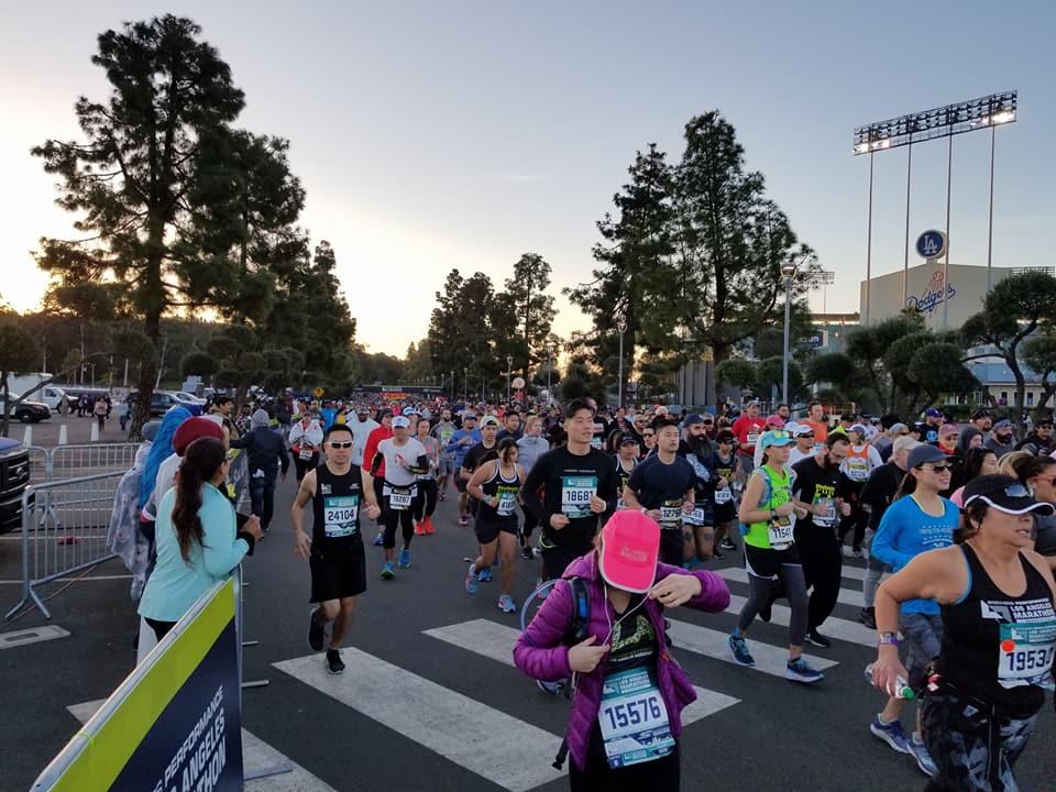 LA Marathon 2018 the start