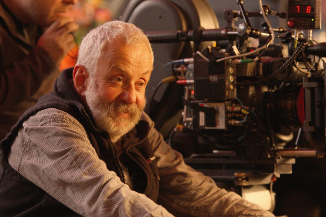 Mike Leigh on set of Mr. Turner
