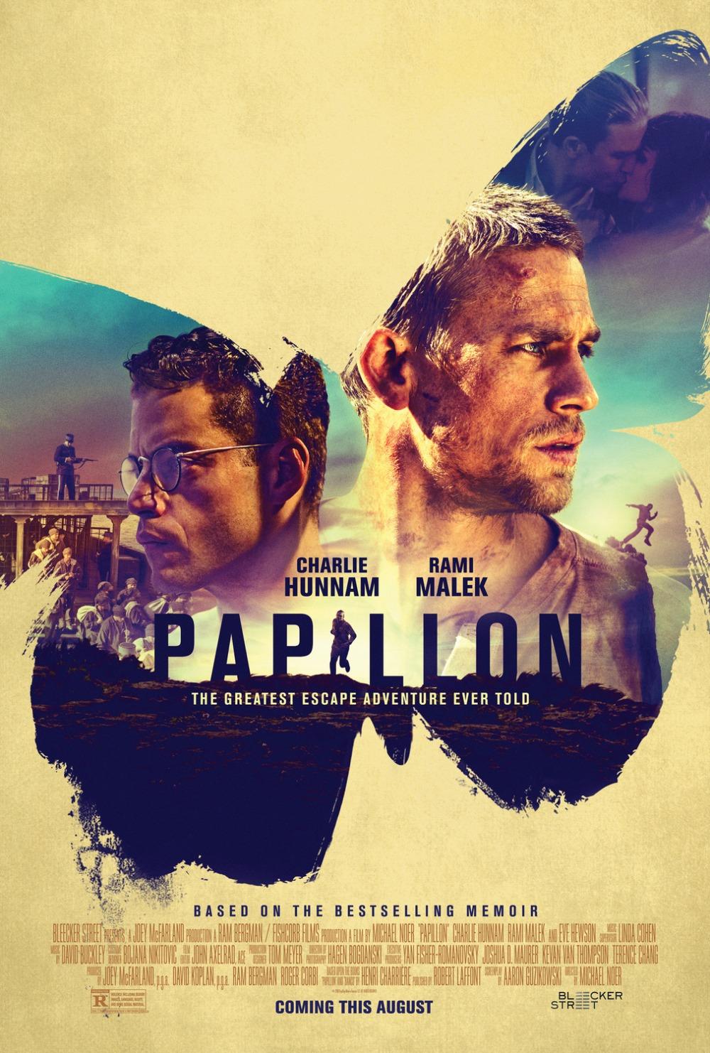 Papillon 2018 movie poster