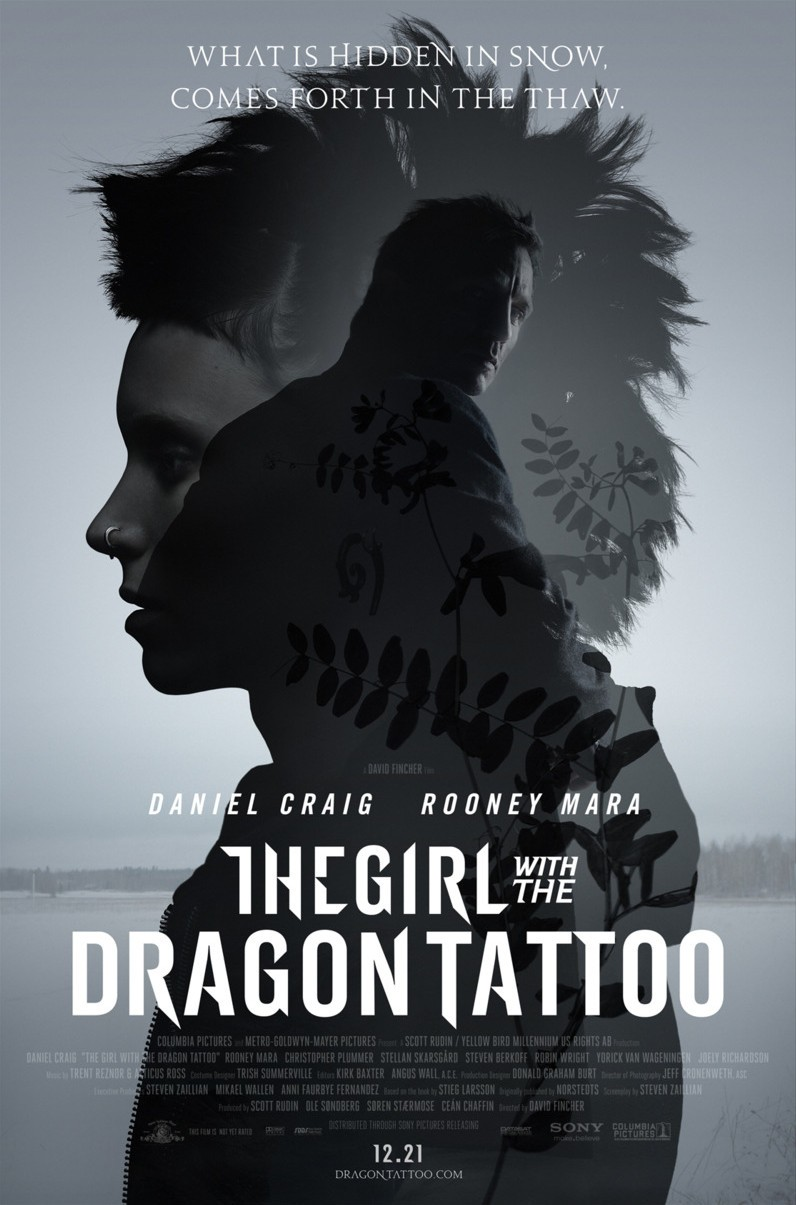 The Girl With The Dragon Tattoo 2011 poster