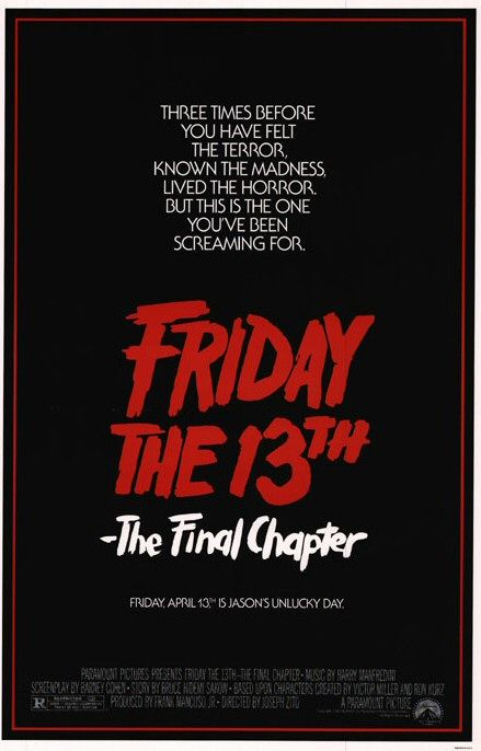 Friday the 13th Part IV The Final Chapter movie poster