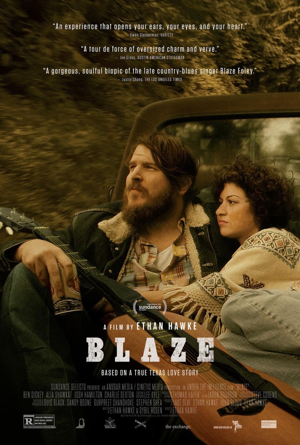 Blaze 2018 movie poster