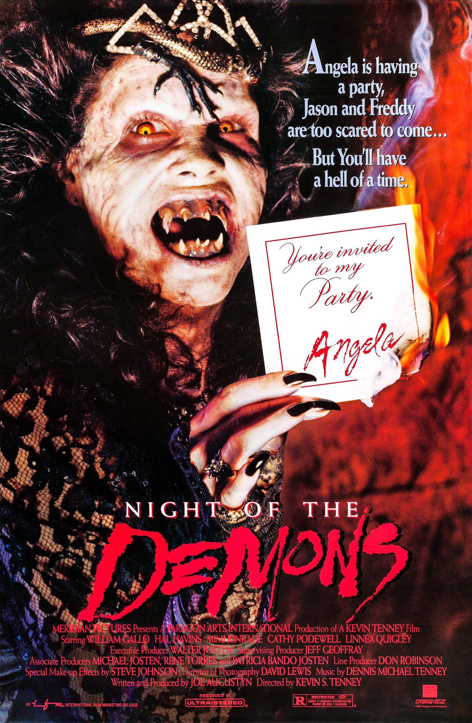 Night of the Demons 1988 movie poster