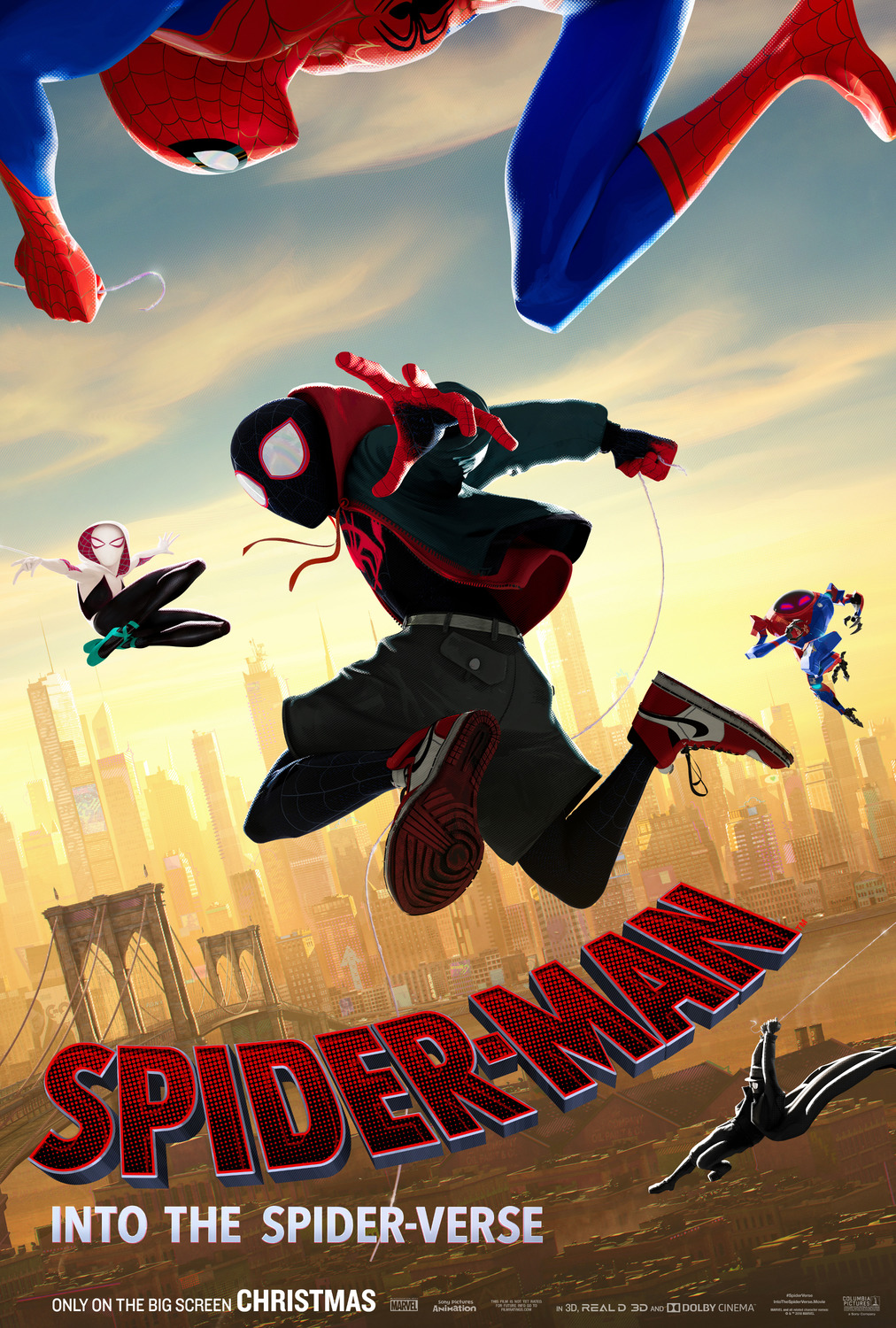 Spiderman Into The Spiderverse poster