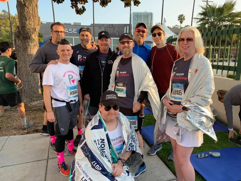 2019 LA Marathon half runners