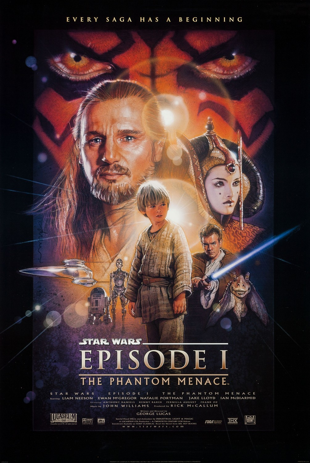 Star Wars Phantom Menace movie poster