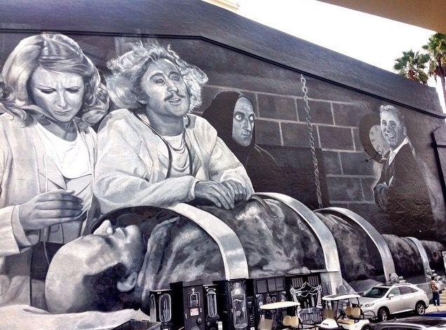 Young Frankenstein mural