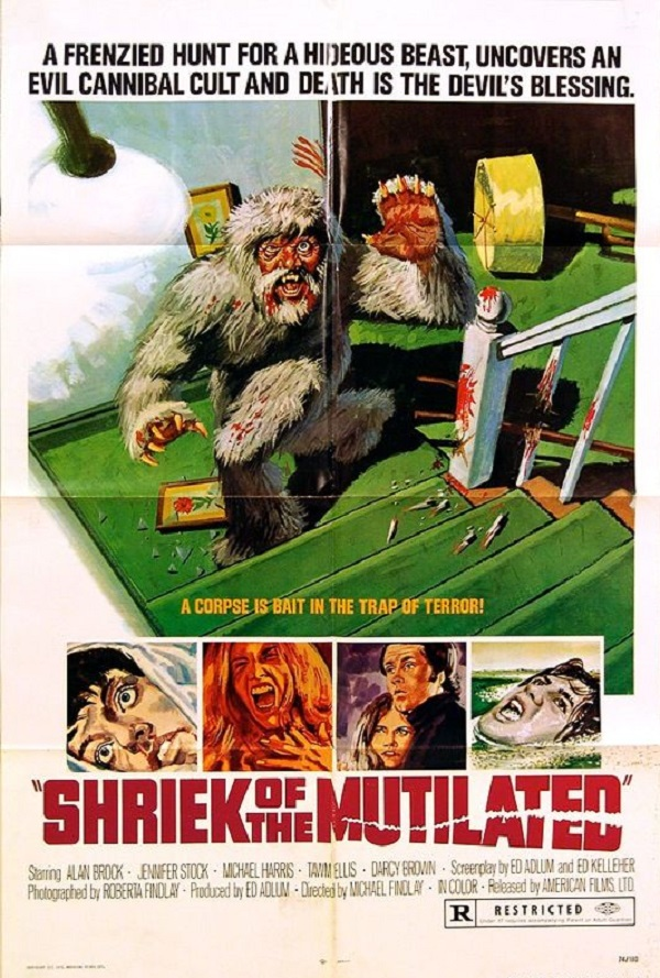 Shriek of the Mutilated movie poster