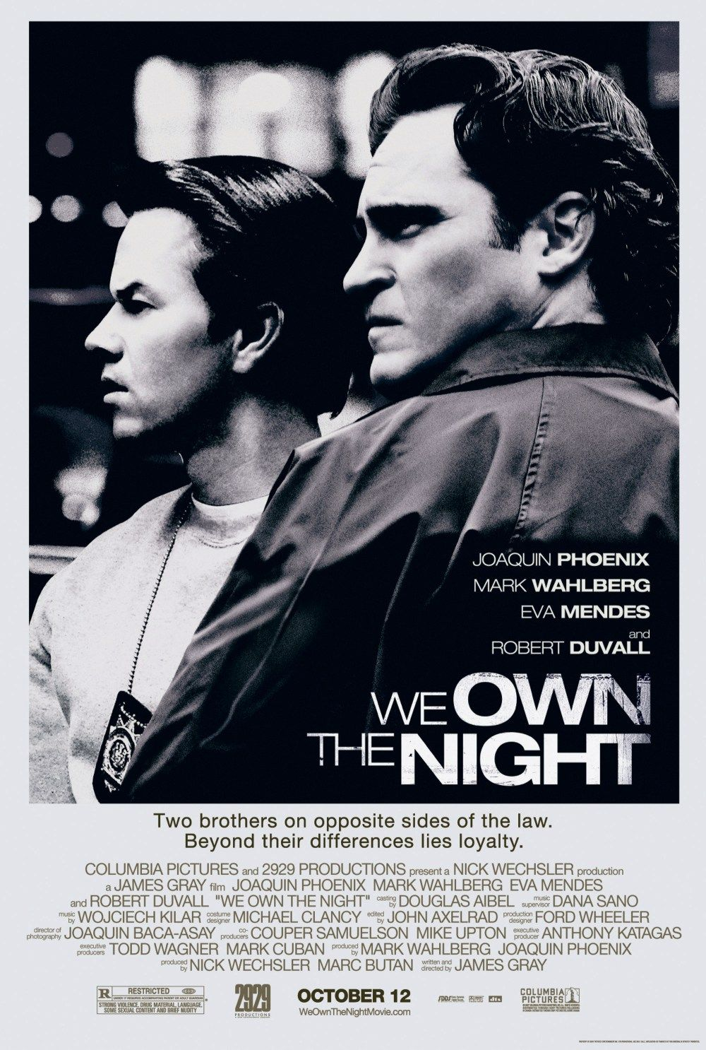 We Own The Night movie poster