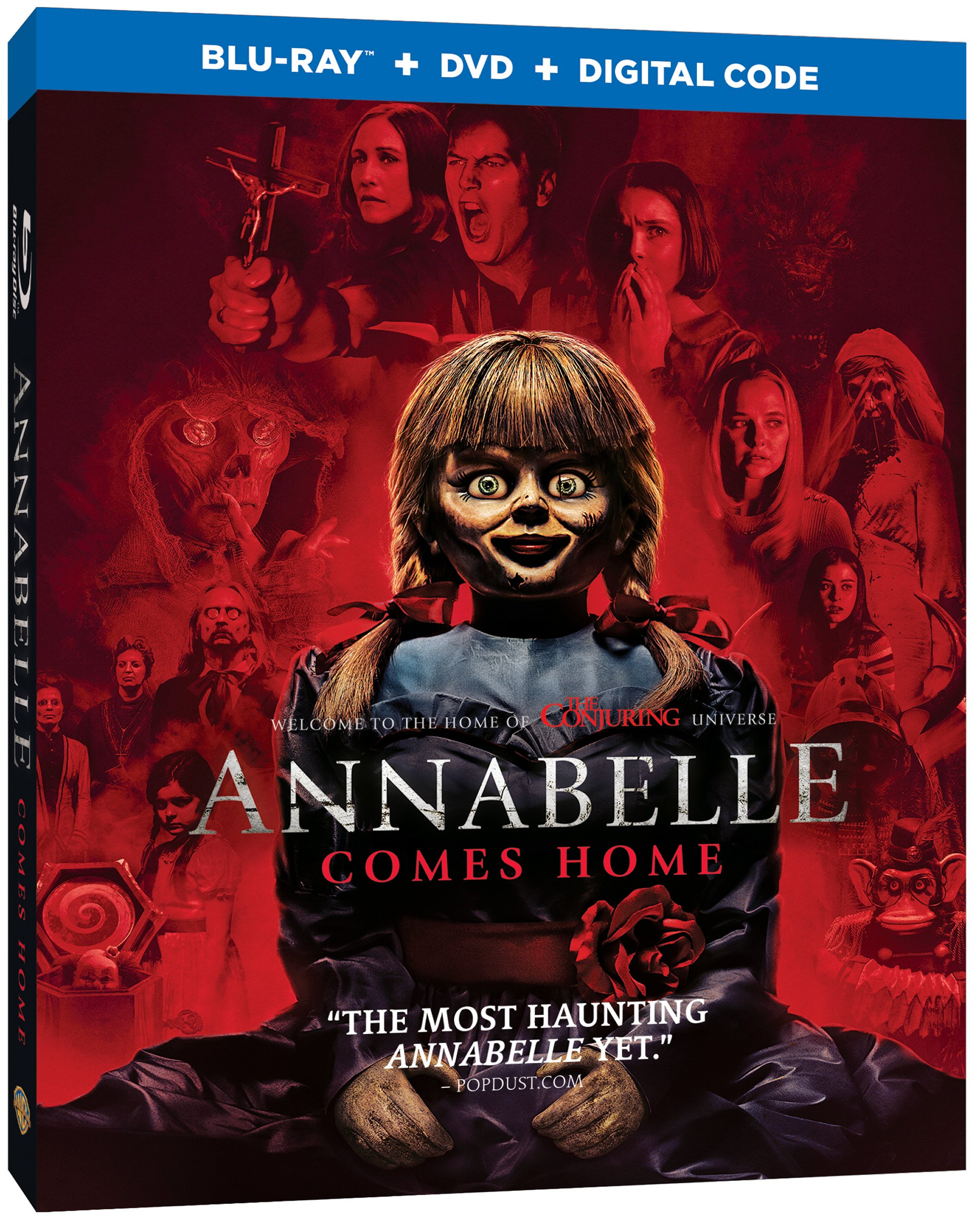 Annabelle Comes Home Blu Ray cover