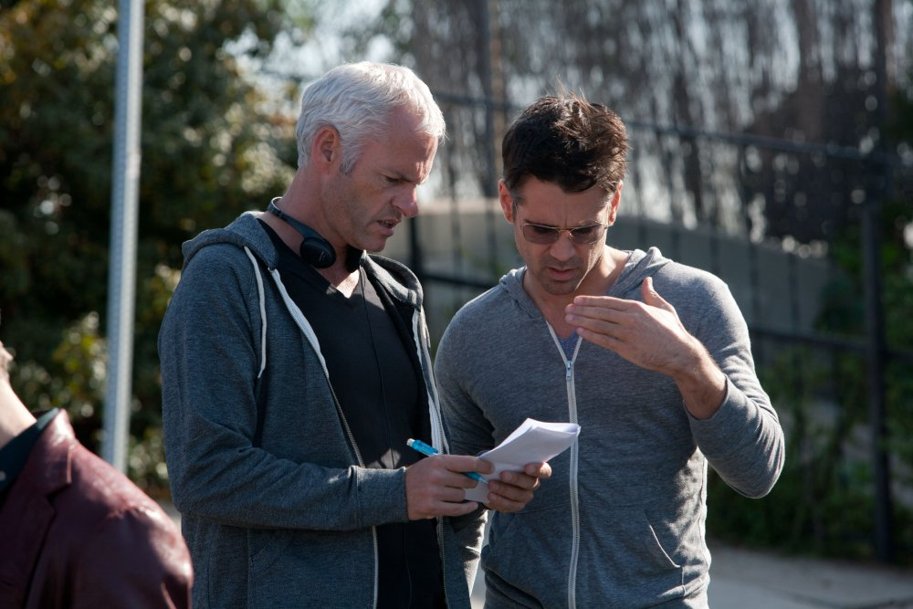 Martin McDonagh on the set of Seven Psychopaths